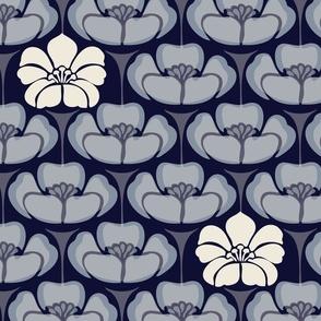 1920s Floral - Indigo