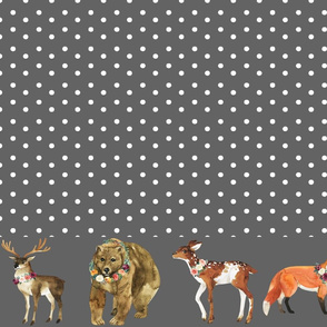 "Paprika Animals Border White Dots 5"" Animals"