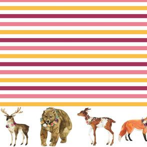 "Paprika Animals Border Stripes 5"""