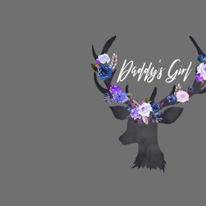 BLUE Floral Deer Daddy's Girl Blanket