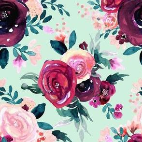 flora burst-dark rose