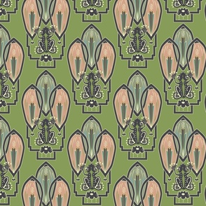 Art Frog Deco Pattern