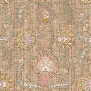 The Arabesque Faience ~ Persephone Faux Linen Luxe
