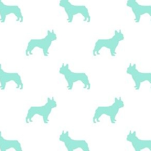 french bulldog silhouette - aqua dog, dogs, dog breed