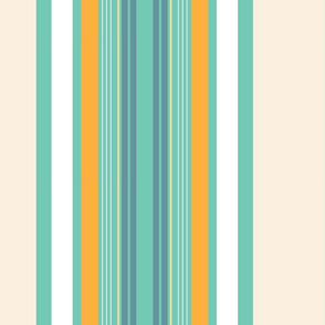 Toucan Ocean Stripe Vertical