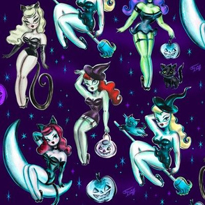 Medium- Witches and Black Cats