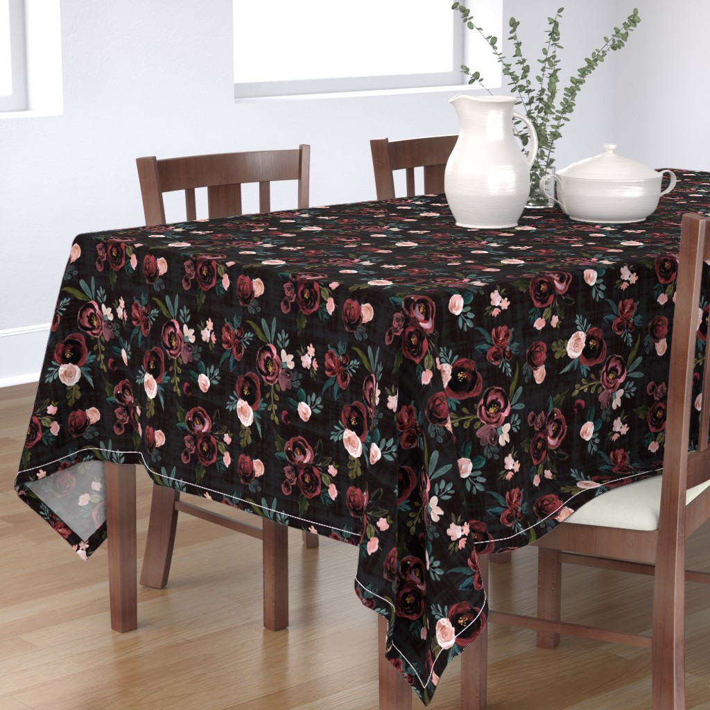 Bantam Rectangular Tablecloth featuring Madison Floral by crystal_walen