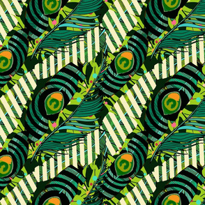 Abstract backround with peacock feathers.