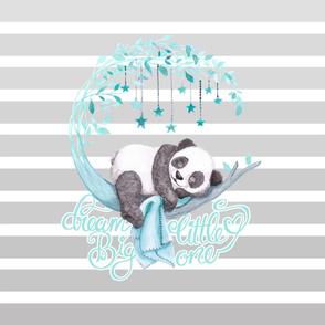 Baby Panda Crib Quilt