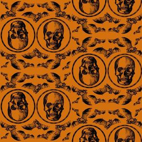 Orange bats halloween