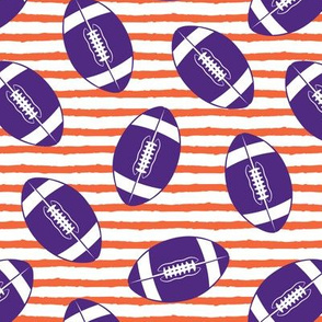 college football (purple and orange)