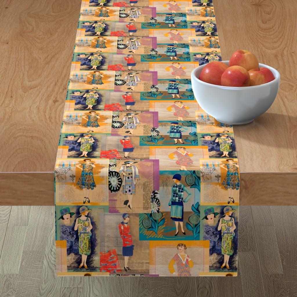 Minorca Table Runner featuring 1920's Ladies by jamie_kalvestran_scrap-bags
