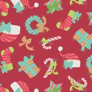 Christmas stripes and swirls