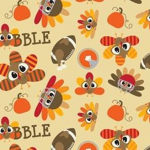 turkeys and footballs