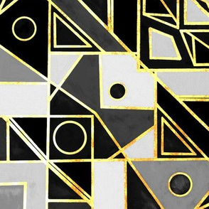 Art Deco Gold, Black & White - Big