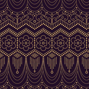 Flapper Dress Inspired aubergine