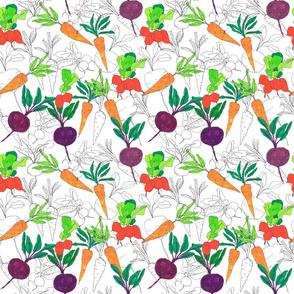 sketch vegetables!