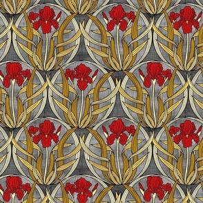 Red Iris Nouveau