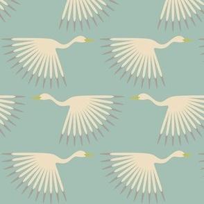 Art Deco Storks