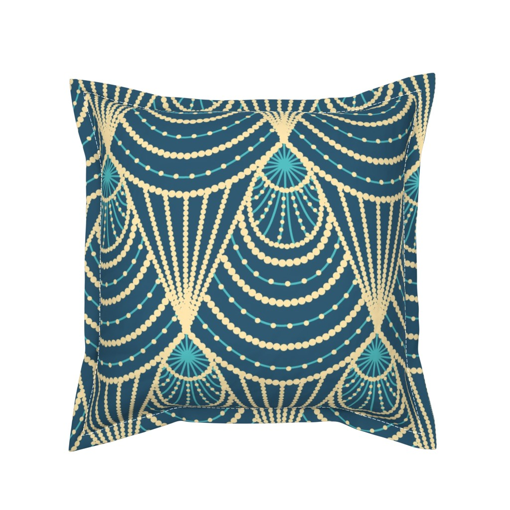 Serama Throw Pillow featuring Art deco by sveta_aho