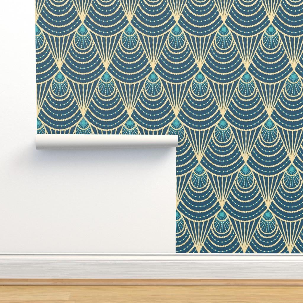 Isobar Durable Wallpaper featuring Art deco by sveta_aho