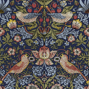 William Morris ~ Strawberry Thief ~ Original Blue ~ Large