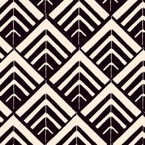 vintage tiles - black & ivory