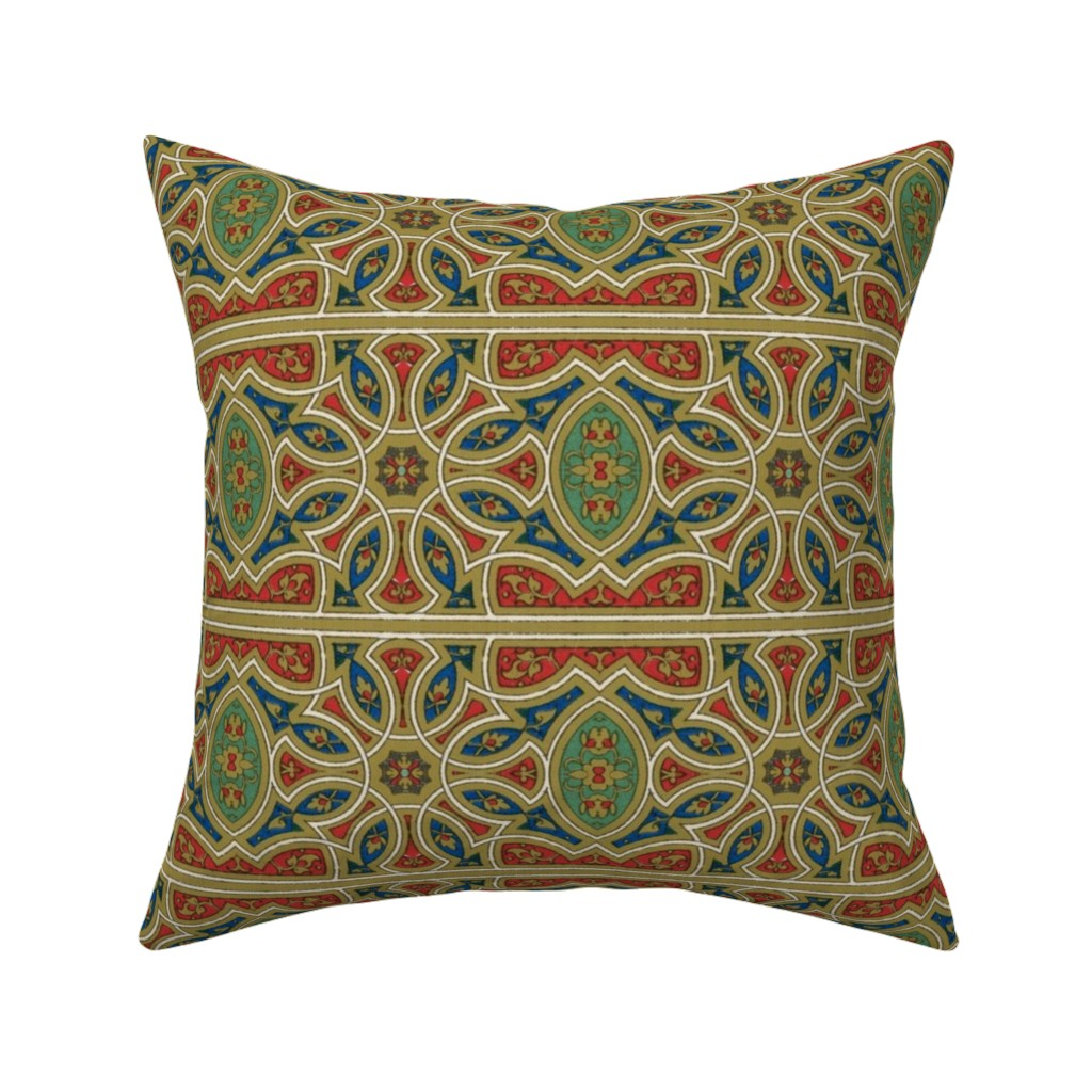 Catalan Throw Pillow featuring arabesque 121 by hypersphere