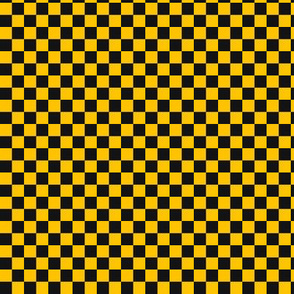 ★ CHECKER ★ Black and Yellow – 1/3 inch / Collection : On fire -Burning Prints