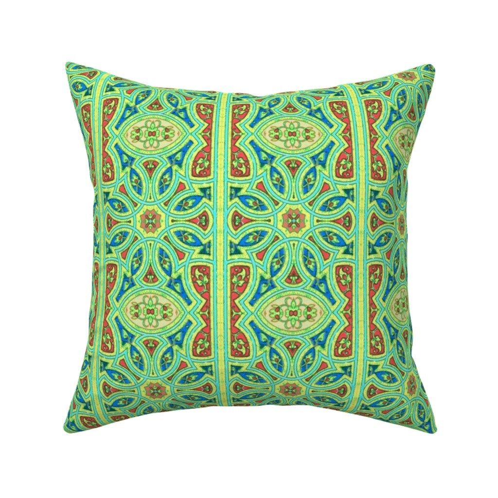 Catalan Throw Pillow featuring arabesque 124 by hypersphere