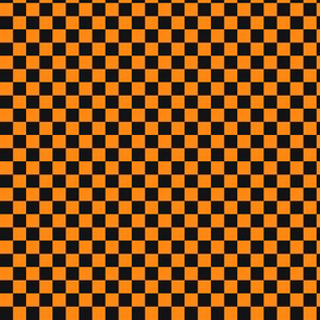 ★ CHECKER ★ Black and Orange – 1/3 inch / Collection : On fire -Burning Prints