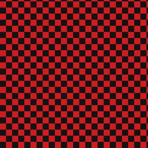 ★ CHECKER ★ Black and Red – 1/3 inch / Collection : On fire -Burning Prints