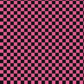 ★ CHECKER ★ Black and Pink – 1/3 inch / Collection : On fire -Burning Prints