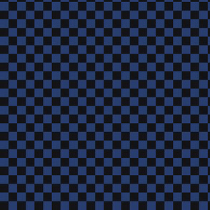 ★ CHECKER ★ Black and Blue – 1/3 inch / Collection : On fire -Burning Prints