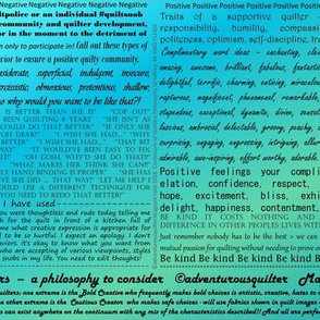 Continuum of Quilters Philosophy Print Blue/Green