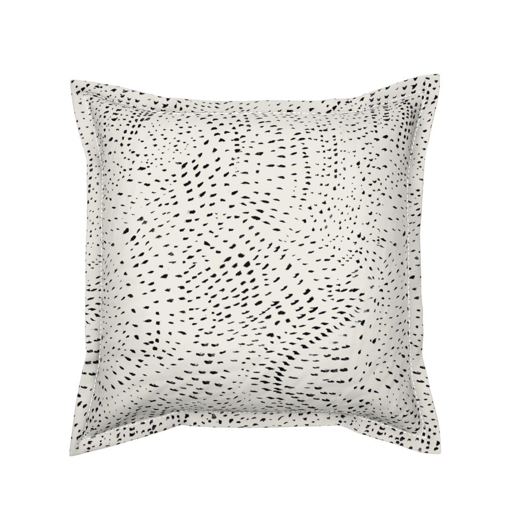 Serama Throw Pillow featuring Watercolor dots by alison_janssen
