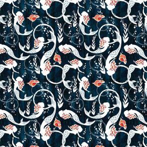 "Watercolor Mermaids {8""x 8"" pattern}"