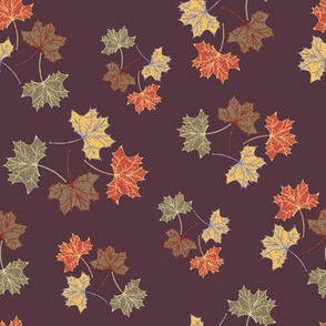 Autumn Leaves Burgundy