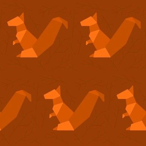 origami squirrel in twigs