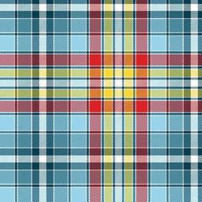 "Four Quarters tartan, 6"" sailing colors"