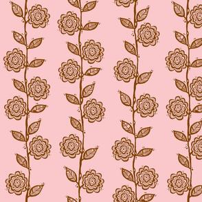 Vine Brown on Pink
