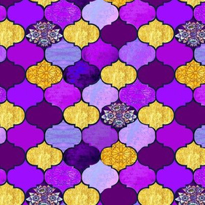Marrakesh tiles purple and gold