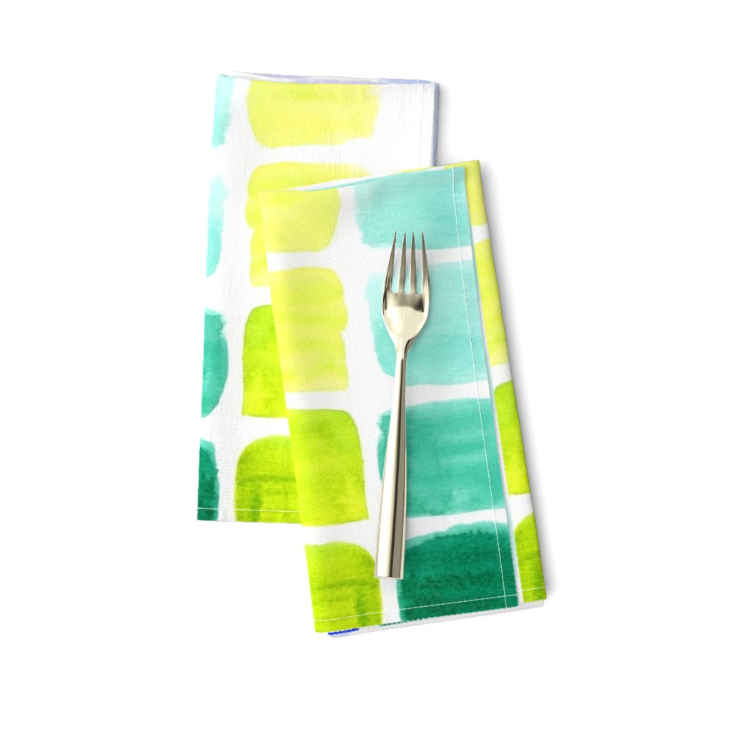 Amarela Dinner Napkins featuring squared gradients by rosemaryanndesigns