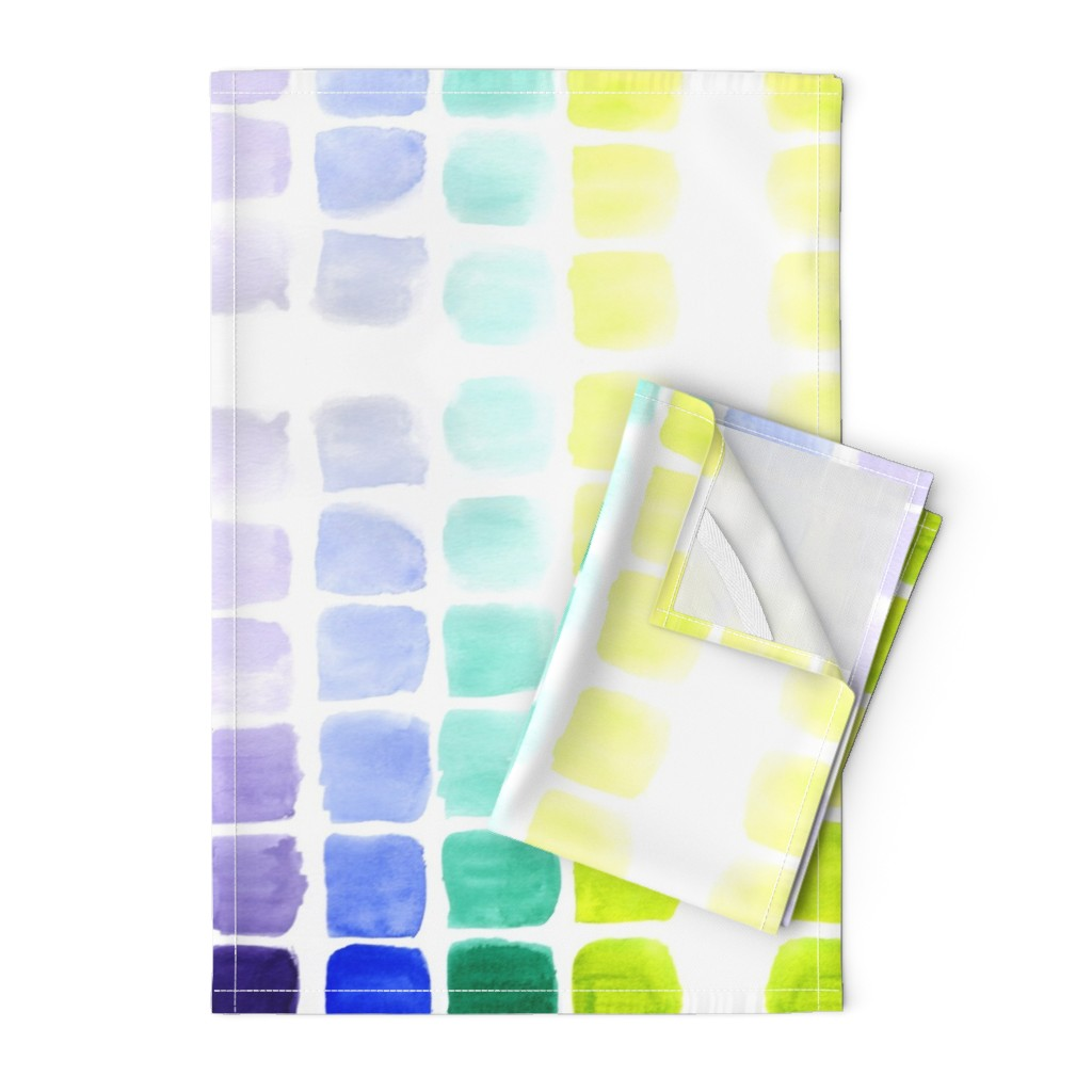 Orpington Tea Towels featuring squared gradients by rosemaryanndesigns