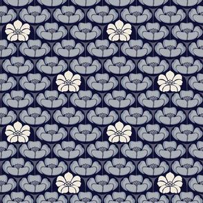 Floral - Indigo - Small