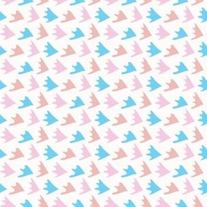 Pastel Abstract Fin Scale Shapes
