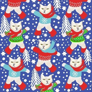 Scandinavian cats in snow // holiday / winter / snow day