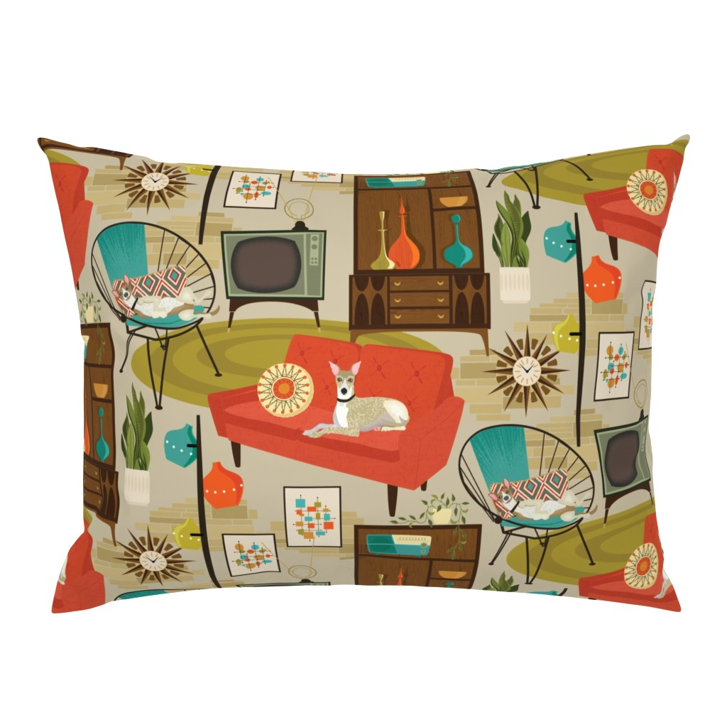 Campine Pillow Sham featuring rec room madness by michaelzindell