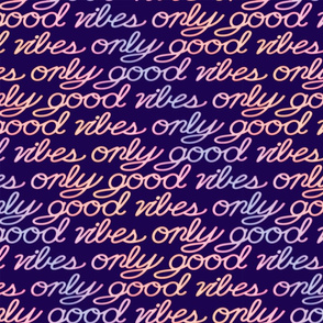 Good Vibes Only - Purple rainbow - large scale