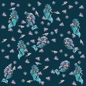 Mermaids in the Ocean